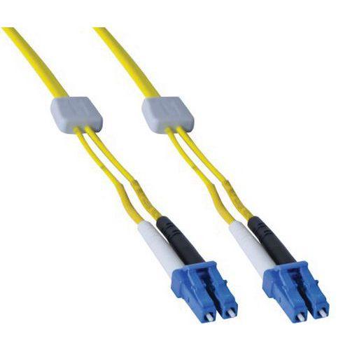 Jarretière duplex OS2 9/125 LC-UPC/LC-UPC jaune - 3 m
