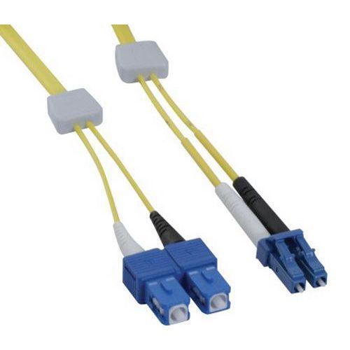 Jarretière duplex OS2 9/125 LC-UPC/SC-UPC jaune - 2 m