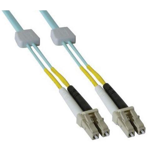 Jarretière duplex OM3 50/125 LC-UPC/LC-UPC aqua - 2 m