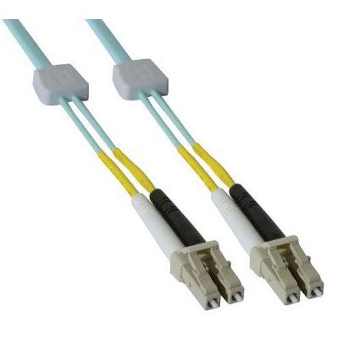 Jarretière duplex OM3 50/125 LC-UPC/LC-UPC aqua - 3 m