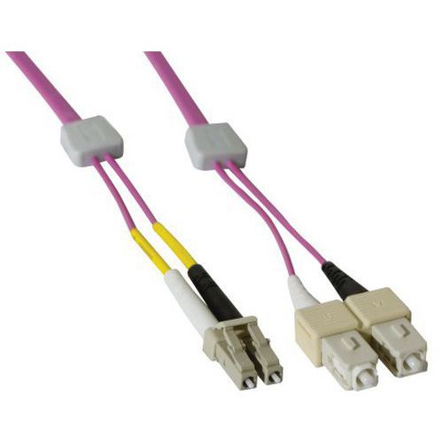 Jarretière duplex OM4 50/125 LC-UPC/SC-UPC erika - 3 m