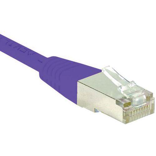 Cordon RJ45 catégorie 6 S/FTP violet - 0,3 m