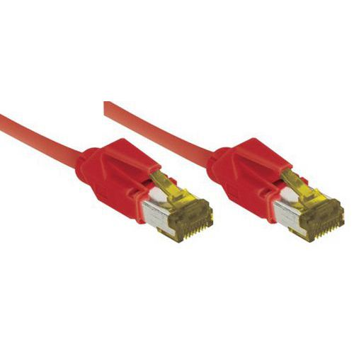 Cordon RJ45 câble catégorie 7 S/FTP LSOH snagless rouge 0,3m