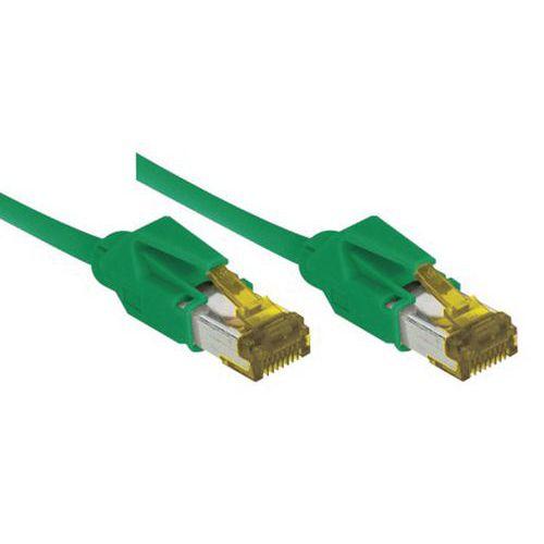 Cordon RJ45 sur câble catégorie 7 S/FTP LSOH snagless 0,3 m