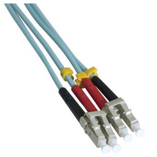 Jarretière duplex multi OM3 50/125 LC-UPC/LC-UPC aqua -0,5 m