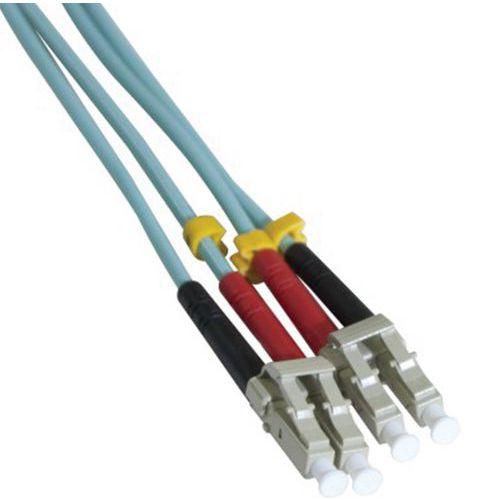 Jarretière duplex multi OM3 50/125 LC-UPC/LC-UPC aqua - 1 m