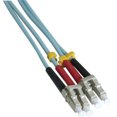 Jarretière duplex multi OM3 50/125 LC-UPC/LC-UPC aqua - 10 m