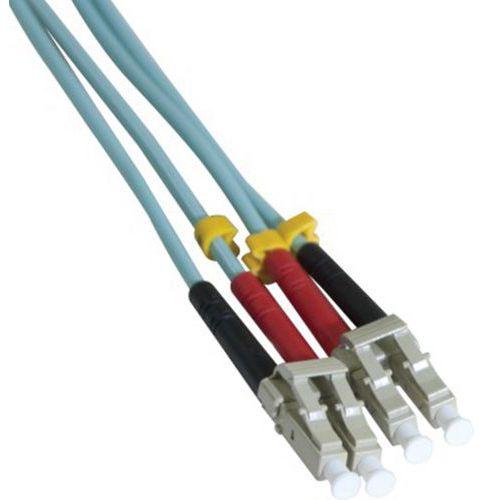 Jarretière duplex multi OM3 50/125 LC-UPC/LC-UPC aqua - 2 m