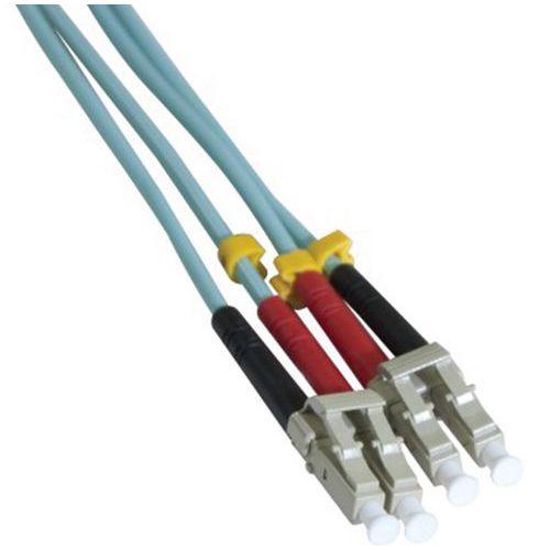 Jarretière duplex multi OM3 50/125 LC-UPC/LC-UPC aqua - 25 m