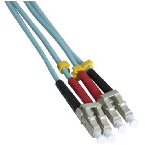 Jarretière duplex multi OM3 50/125 LC-UPC/LC-UPC aqua - 50 m