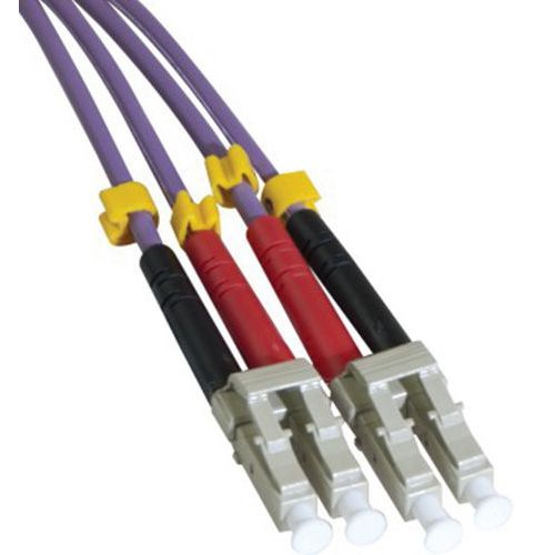 Jarretière duplex multi OM3 50/125 LC-UPC/LC-UPC violet -2 m