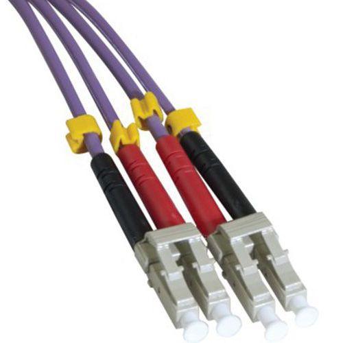 Jarretière duplex multi OM3 50/125 LC-UPC/LC-UPC violet 20 m
