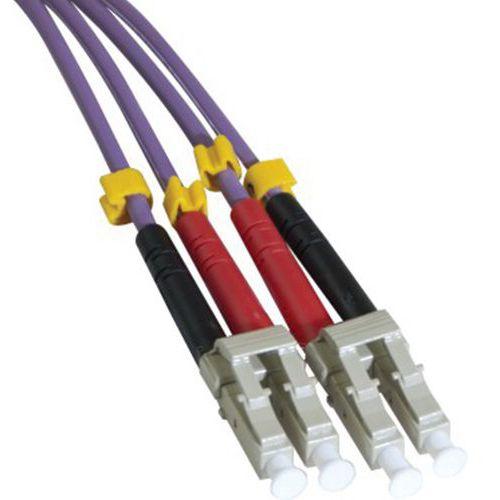 Jarretière duplex multi OM3 50/125 LC-UPC/LC-UPC violet -5 m