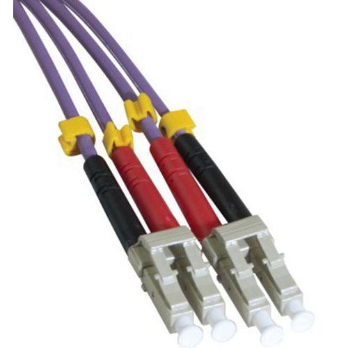 Jarretière duplex multi OM3 50/125 LC-UPC/LC-UPC violet -8 m
