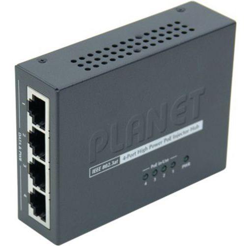 Mini injecteur 4 ports poe 802,3at 120W