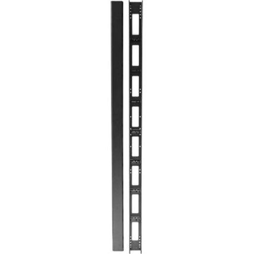 Passe câbles vertical pour baies 800 mm 42 u avec capot noir