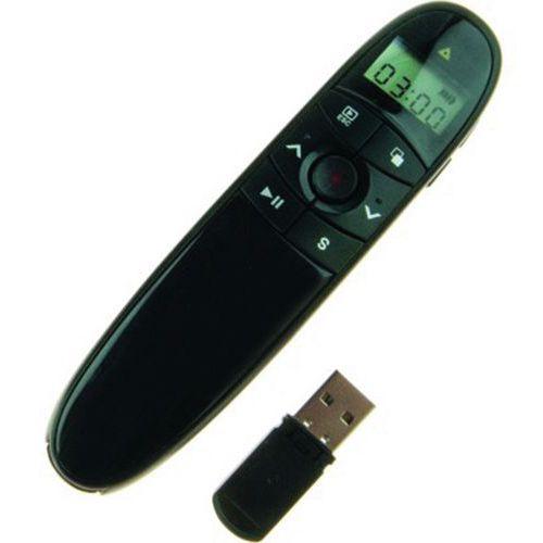 Presentateur avec minuteur et pointeur laser rouge