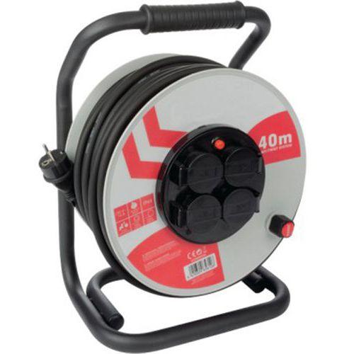 Rallonge électrique PRO 40 m - 4 prises IP44