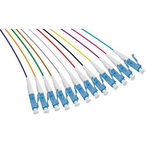 Set de 12 connecteurs panachés PIGTAIL OM3 LC/UPC LSOH - 1m