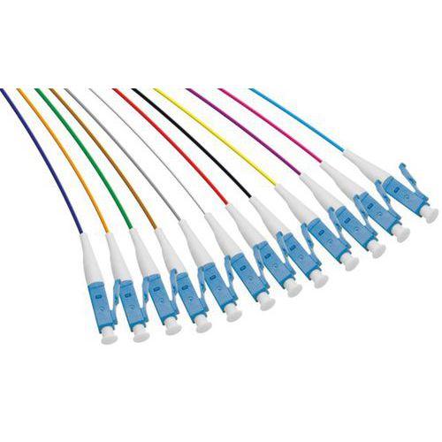 Set de 12 connecteurs panachés PIGTAIL OM3 LC/UPC LSOH - 2m