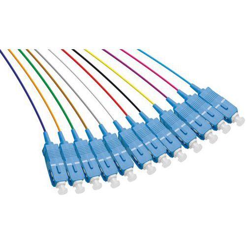 Set de 12 connecteurs panachés PIGTAIL OM3 SC/UPC LSOH - 2m
