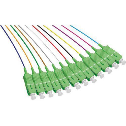 Set de 12 connecteurs panachés PIGTAIL OS2 SC/APC LSOH - 1m
