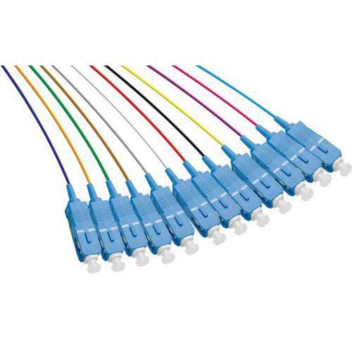 Set de 12 connecteurs panachés PIGTAIL OS2 SC/UPC LSOH - 2m