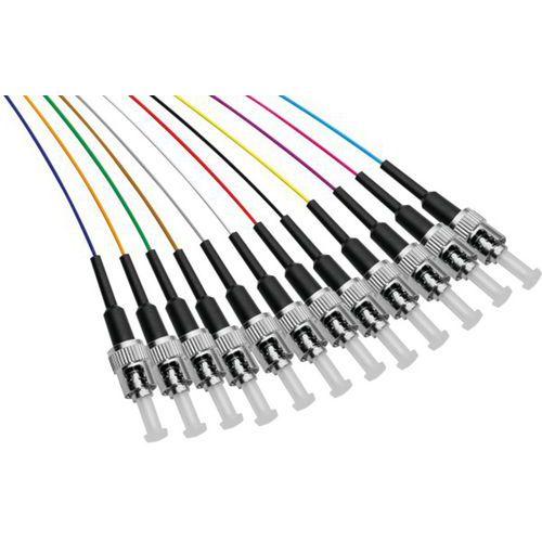Set de 12 connecteurs panachés PIGTAIL OS2 ST/UPC LSOH -2m