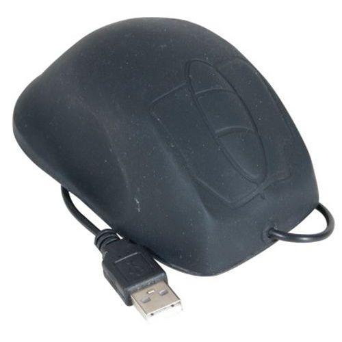 Souris étanche en silicone USB/PS2 noire