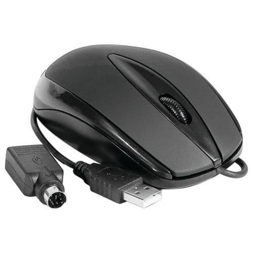 Souris noire USB et PS/2