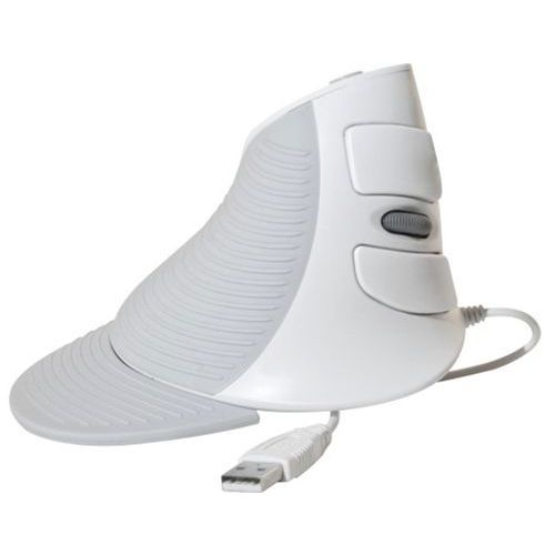 Souris verticale V200U USB blanche