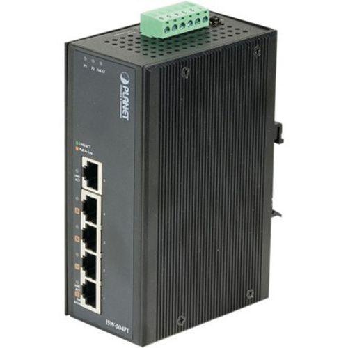 Switch indust 5P 10/100 dont 4 Injecteurs PoE 15W -45/75°