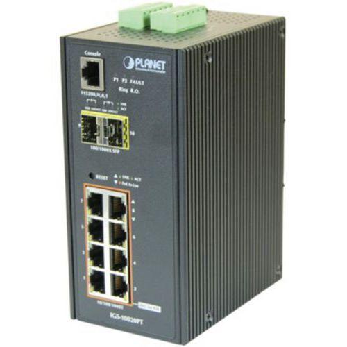 Switch indust L2 8 giga poe &2 sfp 100FX/1G