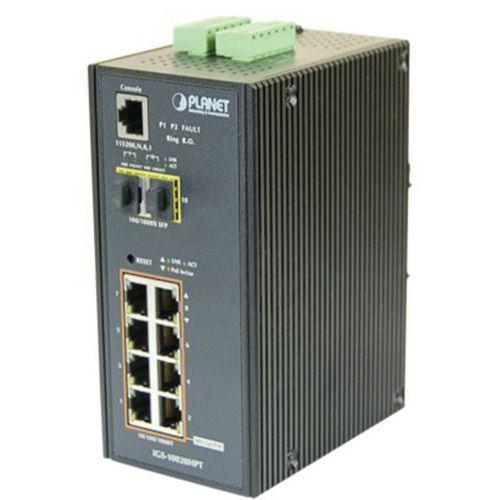 Switch industriel L2 8 Giga PoE+ avec 2 sfp 100FX/1G