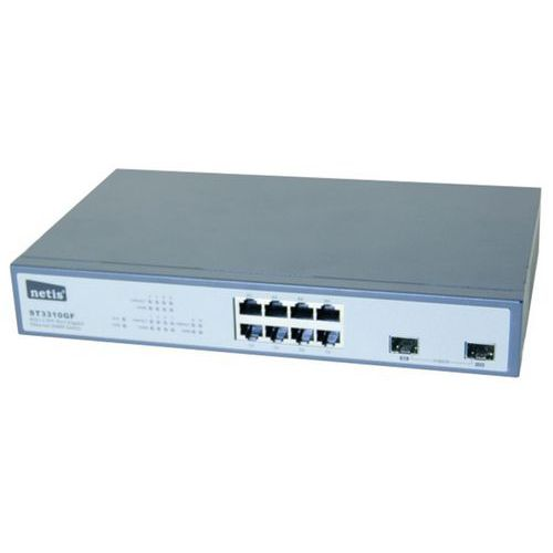 Switch NIV.2 8P gigabit et 2 sfp Netis ST3310GF