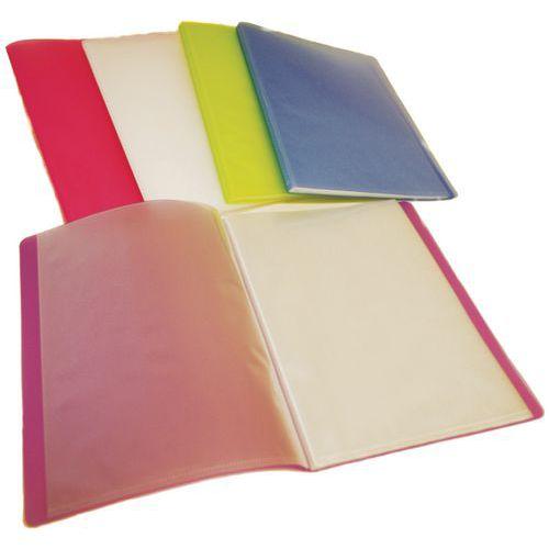Protège-documents polypropylène 80 vues A4 assortis - Lot de 10