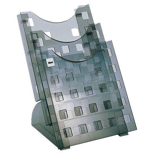 Présentoir pour brochures Helit A4, 3 compartiments