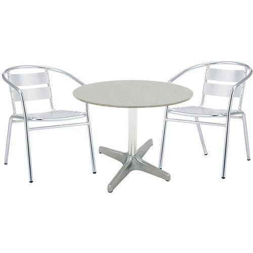 Ensemble table et chaises conviviale - Manutan