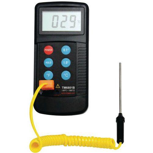 Thermomètre digital à sonde double mesure - Manutan