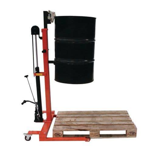 Lève fût métal hydraulique - Force 300 kg