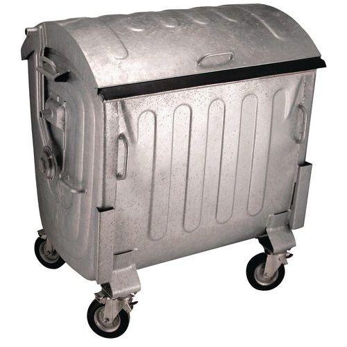 Conteneur mobile en acier galvanisé - 1 100 L