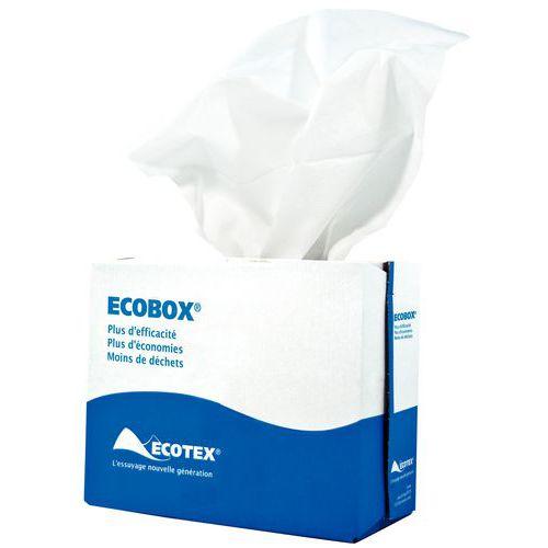 Chiffon non-tissé Ecobox blanc - MP Hygiene