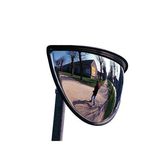 miroir de s curit 1 4 de sph re 180. Black Bedroom Furniture Sets. Home Design Ideas