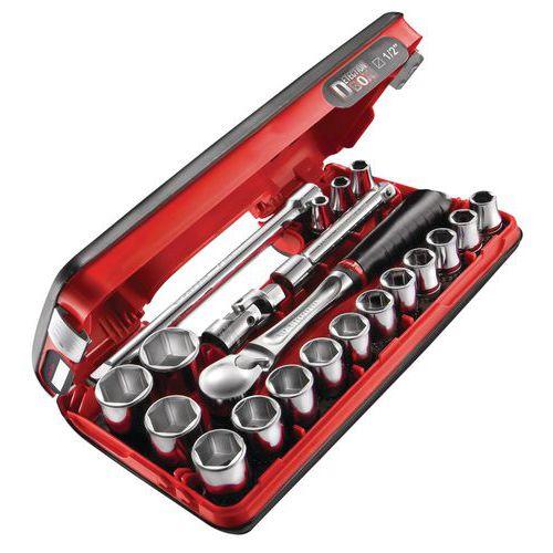 Coffret de 21 pi ces 1 2 6 pans - Coffret outils magnusson ...