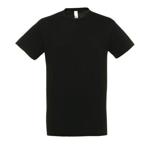 T shirt unisexe col rond noir l