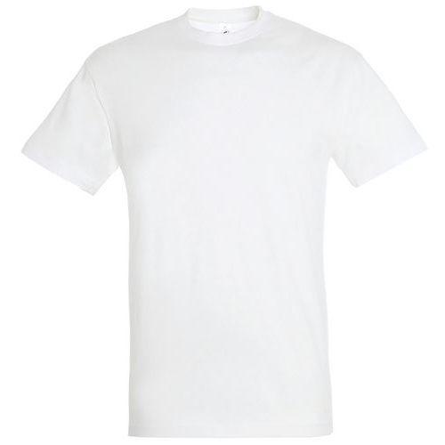 T shirt unisexe col rond blanc m