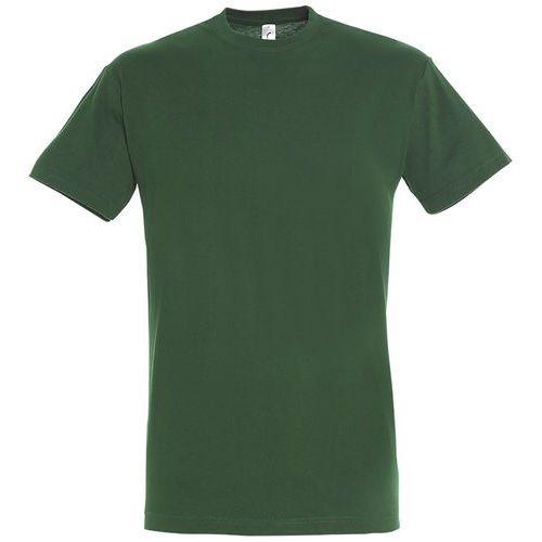 T shirt unisexe col rond vert bouteille 3xl