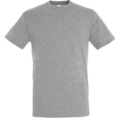 T shirt unisexe col rond gris chiné xl