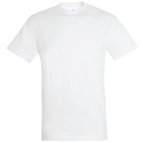 T shirt unisexe col rond blanc l