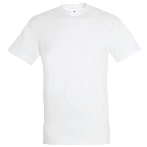 T shirt unisexe col rond blanc xl